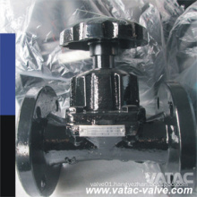 Rubber/NBR/EPDM Lined Straight Diaphragm Valve with Flange Ends
